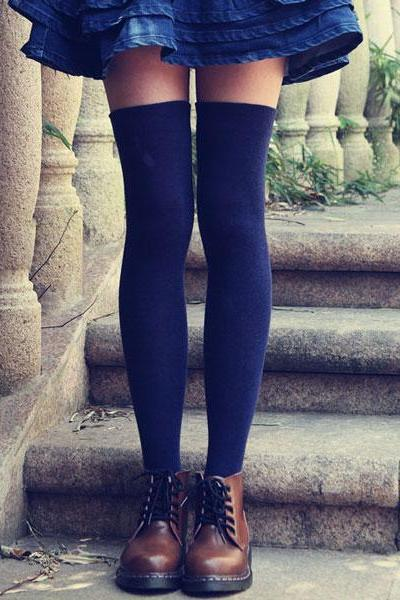 Student Cotton Knee Stockings