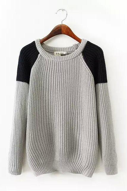 Simple spell color pullover NM1124BG