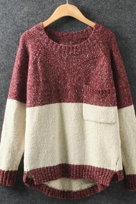 Irregular loose pullover sweater NM1124BH