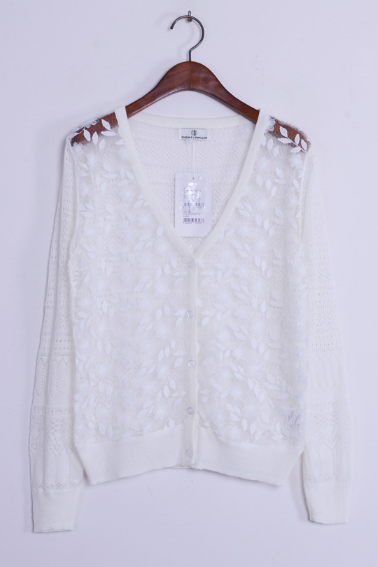 Women's new single lace Eugen yarn knit cardigan