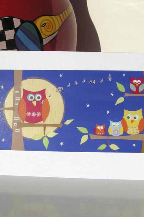 Greeting Card - Bedtime Owls