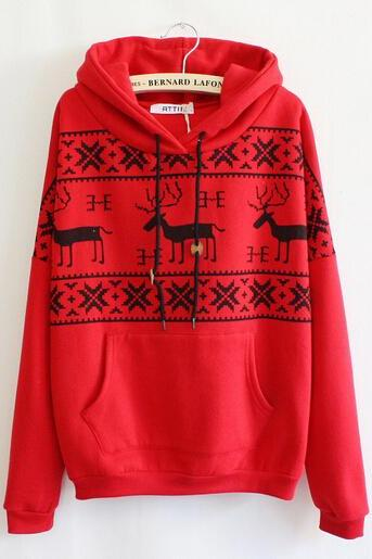 Fashion Fawn Hooded Fleece Sweater