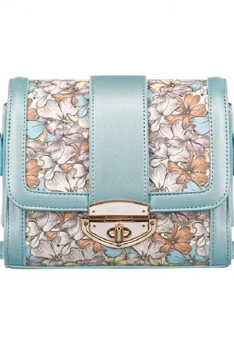 Fashion Romantic Flowers Floral Print Shoulder Bag Cross Body Bag