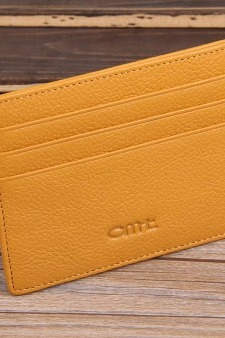 Women Leather Credit Card Holder Case Men's Card Holder Wallet Business Card Package Genuine Leather Bag