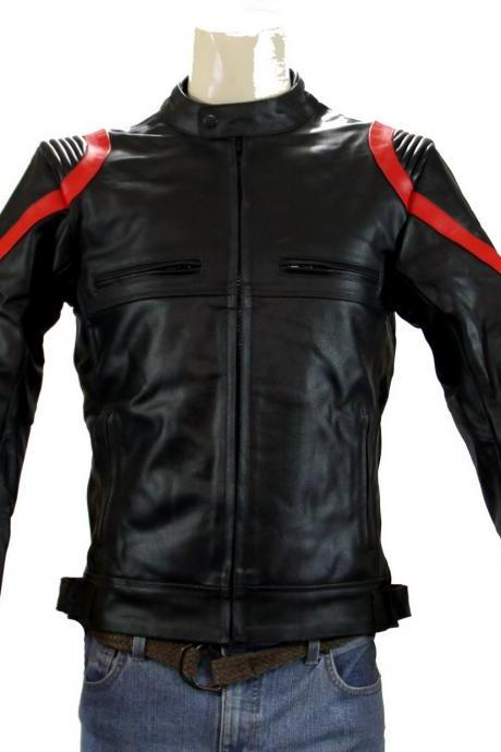 Handmade Custom New Men Lining Style Motorcycle Leather Jacket, men leather jacket, Leather jacket for men, Biker Leather Jacket, Motorcycle Jacket