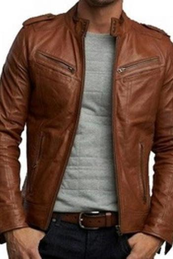 Handmade Custom New Men Latest Style Leather Jacket, men leather jacket, Leather jacket for men, Biker Leather Jacket, Motorcycle Jacket