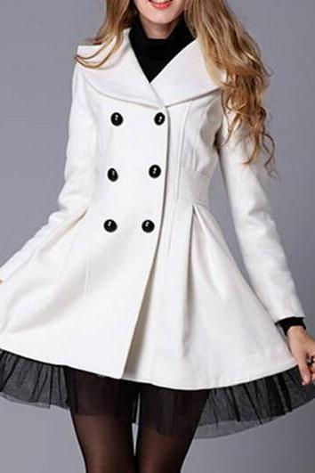 Double-breasted coat wool coat BH1127BD