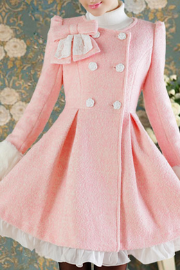 Sweet lace bow flounced jacket AX112801ax