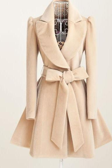 Slim beige long-sleeved jacket AX112805ax