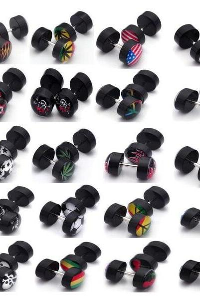 Ear Plug Earring Gauges Stretching Mixed Style Kit Tapers Body Jewelry 40pcs