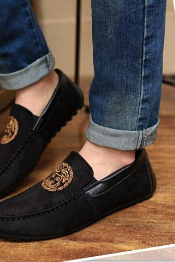 Men suede Driving Moccasin Casual Sneakers loafer Shoes
