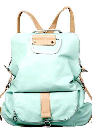 Unique Fresh Multifunction Light Blue Nice Backpack &Handbag