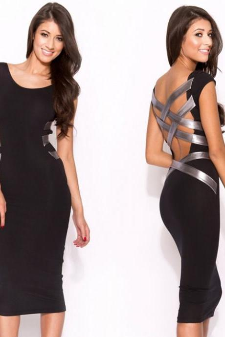 Knee Length Bodycon Bandage Dress