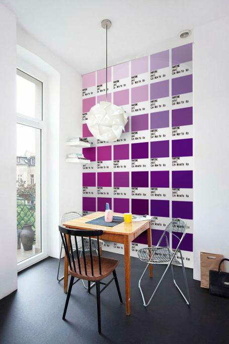 Pantones Tiles Stickers Violet Color (Pack with 56) - 4 x 4 inches