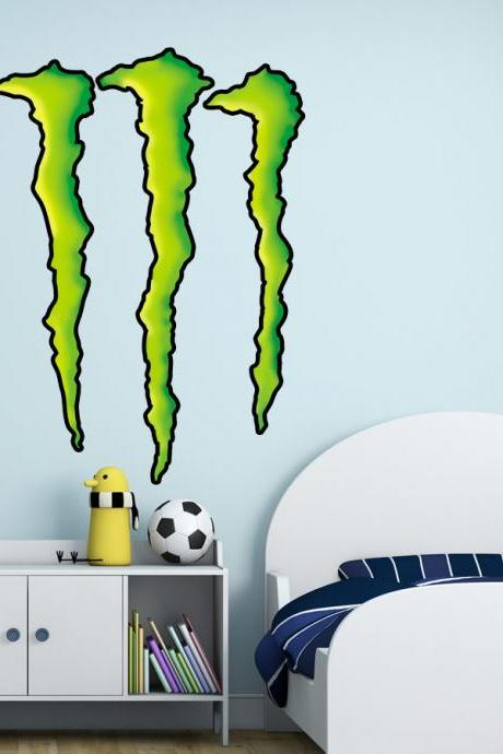Monster Claw Wall Decal Sticker for Kids Bedroom - Kids Decor - 55.1 X 39.4 inches