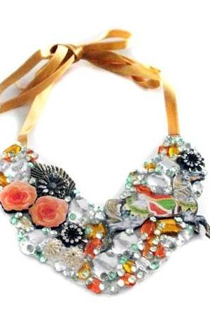 Carousel Statement Bib Necklace