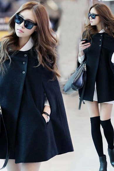 Women's new woolen coat big code in the long section of Cape cape coat