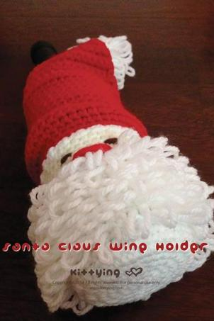 CROCHET PATTERN Santa Claus Wine Holder for Christmas Winter Holiday - Chart & Written Pattern