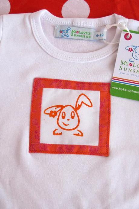 Orange Rabbit - Bodysuit Size 12-18 M
