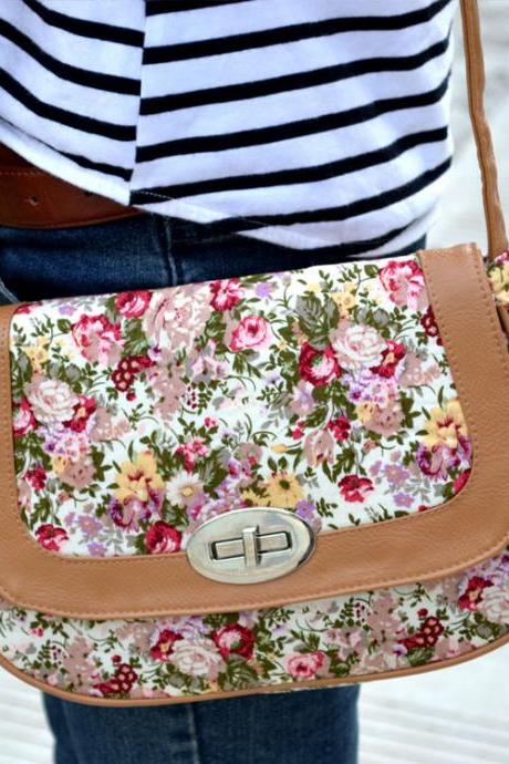 Personality Folk Leisure Floral Printed Shoulder Bag HRJC7G85W2G7DKVDCXQY3