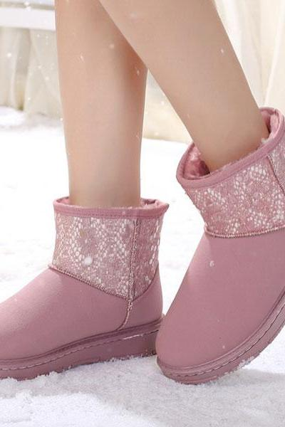 Waterproof Sequinned Flat Ugg Boots