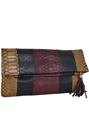 Folded Snakeskin Clutch 1