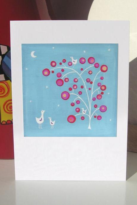 Greeting Card - Moon Berries