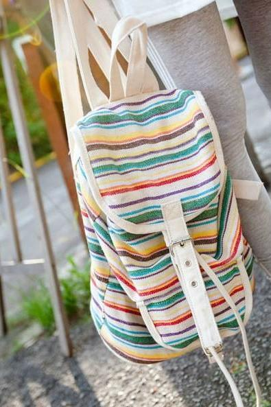 Colorful Stripe Backpack