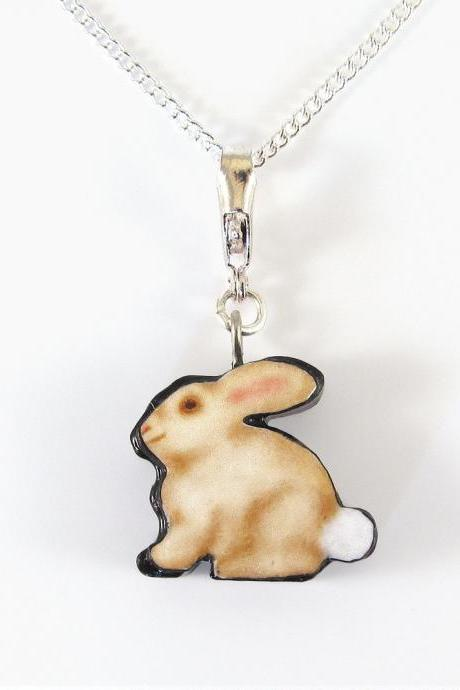 Bunny Pendant and Necklace