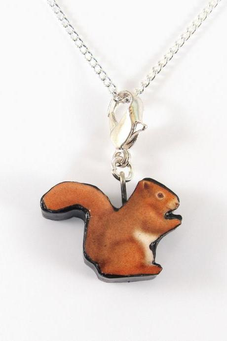 Red Squirrel Pendant and Necklace