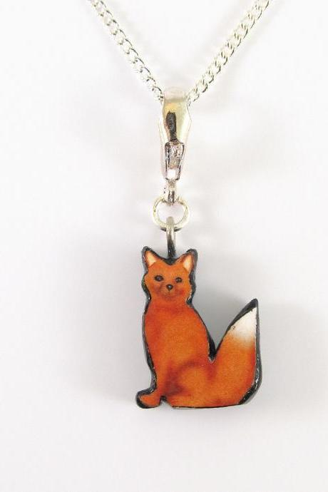 Red Fox Pendant and Necklace