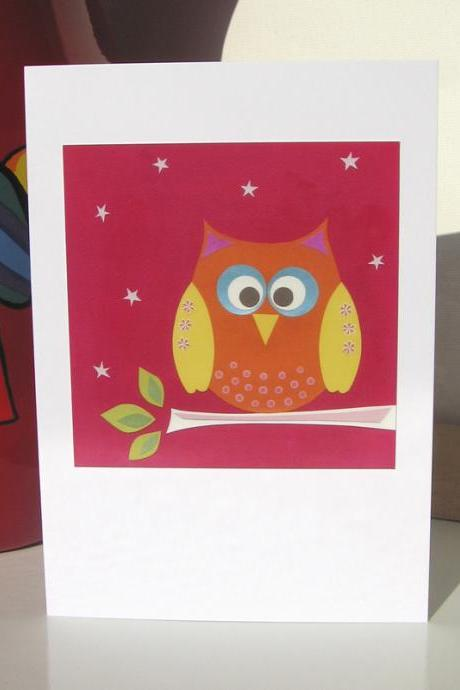 Greeting Card - Perched