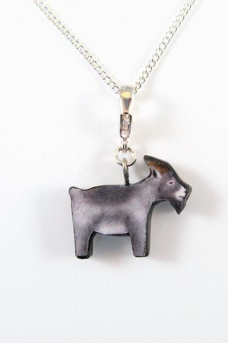 Goat Pendant and Necklace