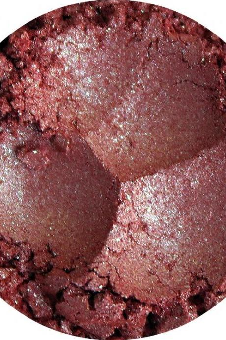 Mineral Eye shadow peach orange with green shimmer, Tourmaline- Birthstone Collection -
