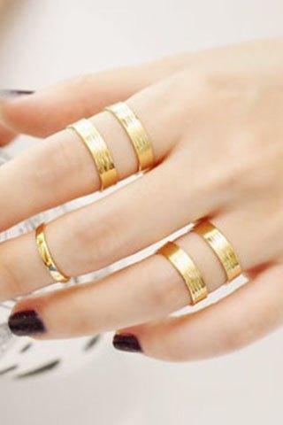 Retro Simple Design Polished Double-Layer Cuff Ring