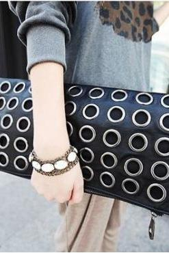 Stylish Black Retro Fashion Clutch Bag