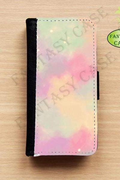 Pastel Painting - iPhone 5 Wallet Case, Leather iphone 5s case, iPhone 6 Wallet Case, Leather iPhone 6 Case, Flip Case