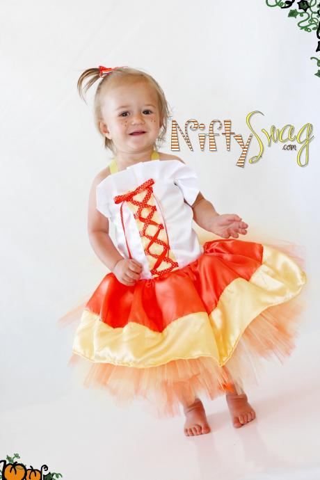 Candy Corn Princess Boutique Costume