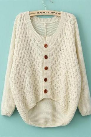 Cardigan Sweater Jacket Retro Twist