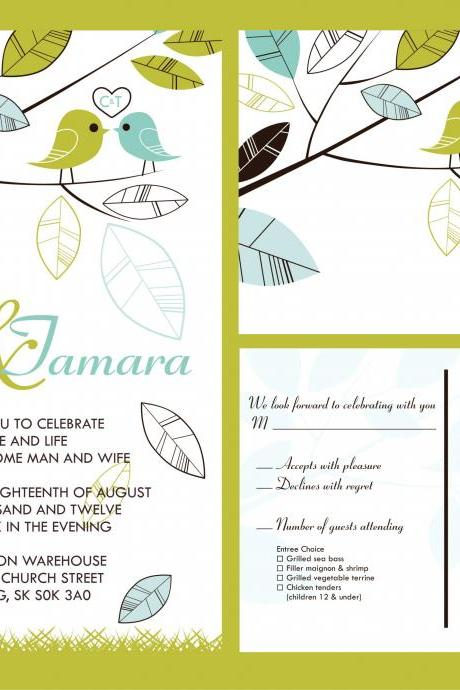 100 Budget Wedding Invitations & matching RSVP set
