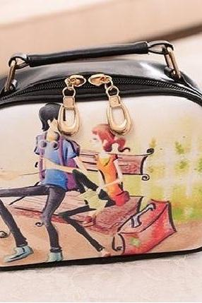 Couple love friends messenger girl handbag