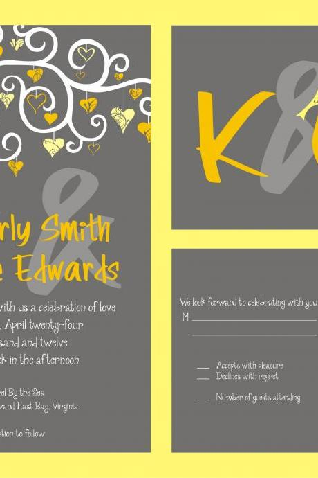 50 Wedding Invitations and matching RSVP sets