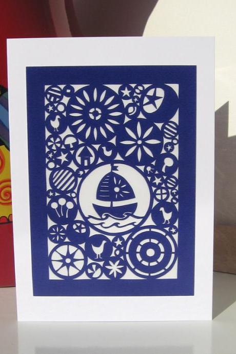 Greeting Card - On A Silent Sea