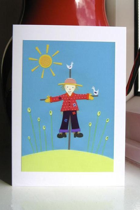Greeting Card - Dangle The Scarecrow