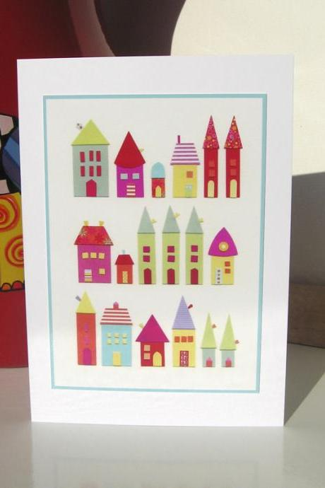 Greeting Card - She Had A House Of Paper