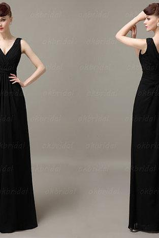 Black bridesmaid dresses, girls bridesmaid dresses, wedding bridesmaid dress, long bridesmaid dress, cheap bridesmaid dress, CM038