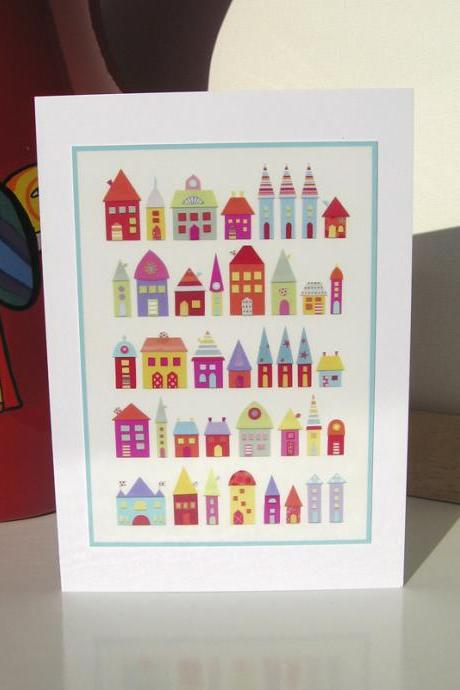Greeting Card - They Lived In A Paper Village