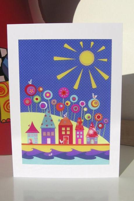 Greeting Card - Under A Warm Sun