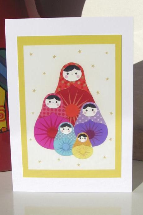 Greeting Card - Paper Dolls
