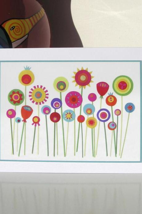 Greeting Card - She grew Paper Flowers